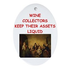 wine Ornament (Oval)
