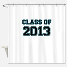 CLASS OF 2013 VARSITY BLACK AND BLUE Shower Curtai