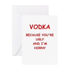 vodka Greeting Card