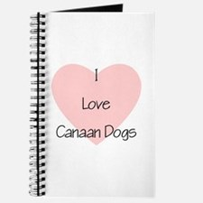 I Love Canaan Dogs Journal