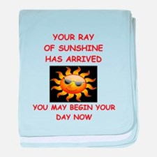 sunshine baby blanket