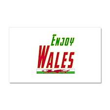 Enjoy Wales Flag Designs Car Magnet 20 x 12