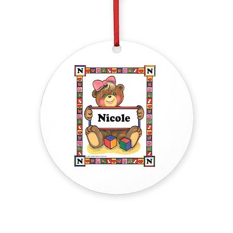 Ornament for Nicole (Round)