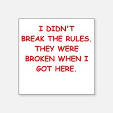 rules Sticker