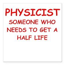 """physics Square Car Magnet 3"""" x 3"""""""