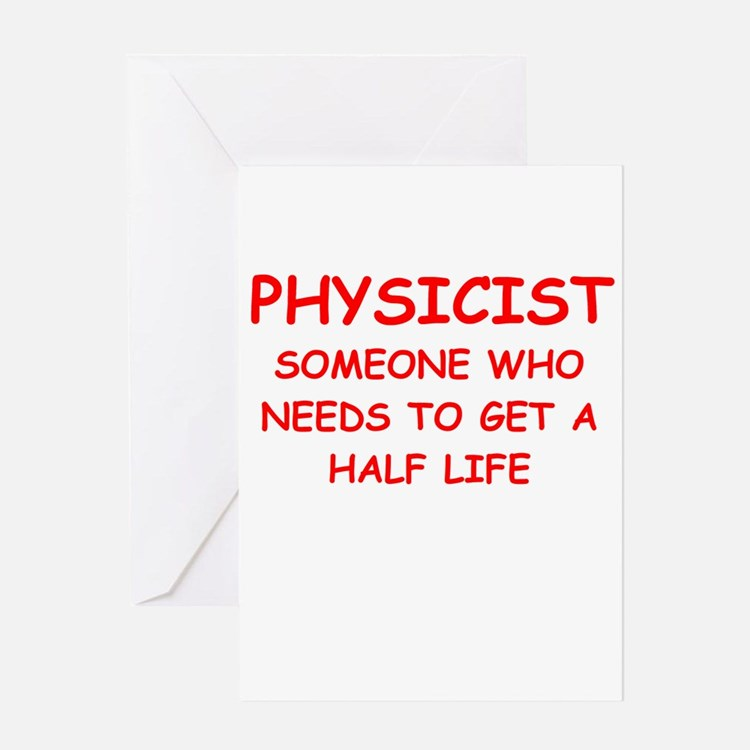 physics Greeting Card
