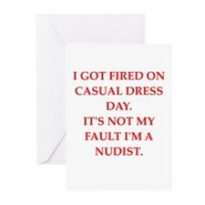 casual dress Greeting Cards (Pk of 20)