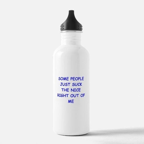 i hate people Water Bottle
