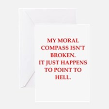immoral Greeting Card