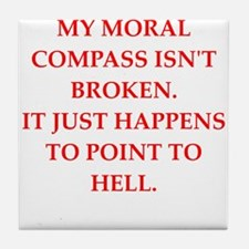 immoral Tile Coaster