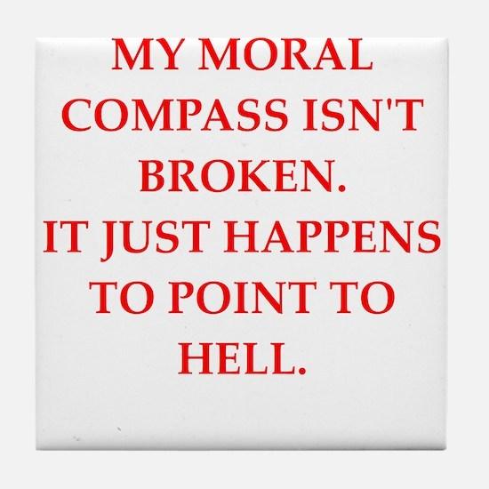 immoral Tile Coaster