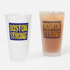 Boston Strong Yellow & Blue Drinking Glass