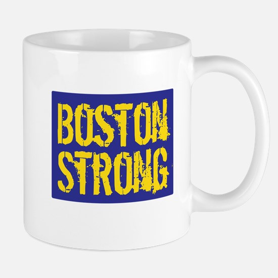 Boston Strong Yellow & Blue Mug