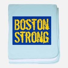 Boston Strong Yellow & Blue baby blanket