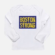 Boston Strong Yellow & Blue Long Sleeve Infant T-S