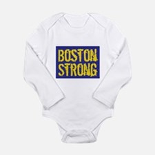 Boston Strong Yellow & Blue Long Sleeve Infant Bod