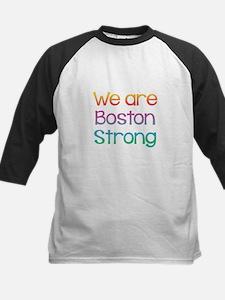 We Are Boston Strong Multi Kids Baseball Jersey