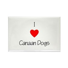 I Love Canaan Dogs Rectangle Magnet (10 pack)