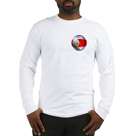 Costa Rica Soccer Ball Long Sleeve T-Shirt