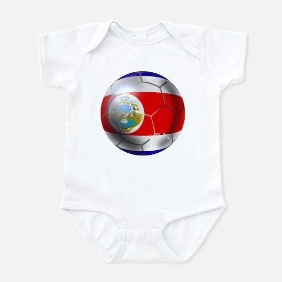 Costa Rica Soccer Ball Infant Bodysuit