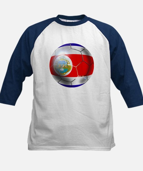 Costa Rica Soccer Ball Kids Baseball Jersey