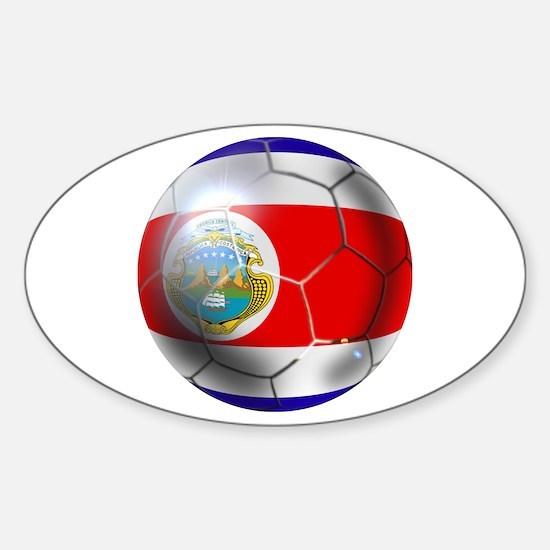 Costa Rica Soccer Ball Sticker (Oval 10 pk)