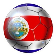 Costa Rica Soccer Ball Round Car Magnet