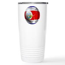 Costa Rica Soccer Ball Thermos Mug
