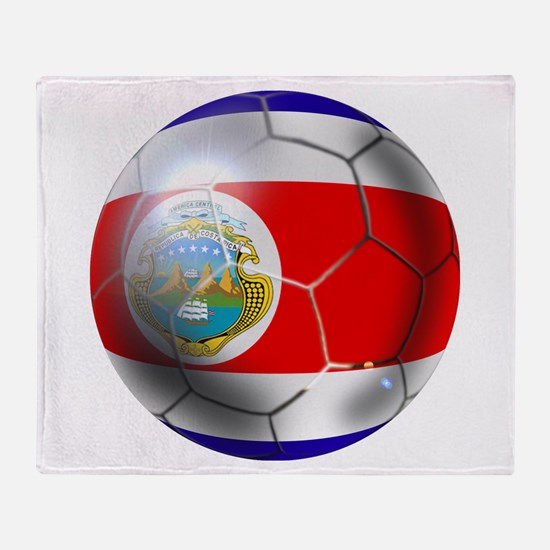 Costa Rica Soccer Ball Throw Blanket