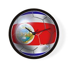 Costa Rica Soccer Ball Wall Clock