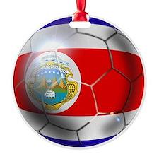 Costa Rica Soccer Ball Ornament