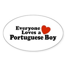 Everyone Loves a Portuguese Boy Oval Decal