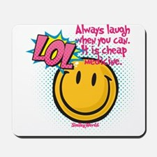 lol smiley Mousepad