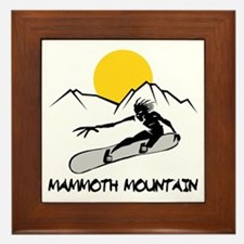 Mammoth Mountain Snowboard Framed Tile