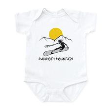 Mammoth Mountain Snowboard Infant Bodysuit