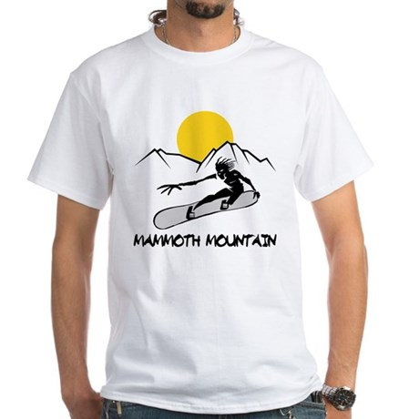 Mammoth Mountain Snowboard White T-Shirt