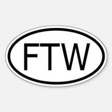 FTW Oval Decal