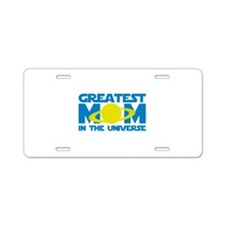 Greatest Mom In The Universe Aluminum License Plat