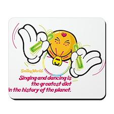 raving smiley Mousepad