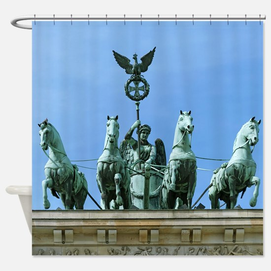 Brandenburg Gate Quadriga Berlin Shower Curtain