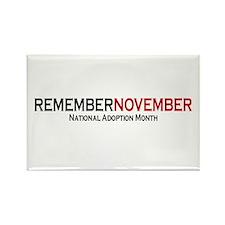 RememberNovember text Rectangle Magnet