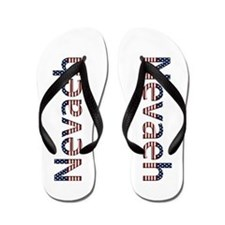 Nevaeh Stars and Stripes Flip Flops