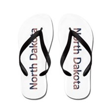 North Dakota Stars and Stripes Flip Flops