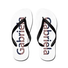 Gabriela Stars and Stripes Flip Flops