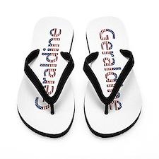 Geraldine Stars and Stripes Flip Flops