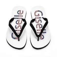 Giselle Stars and Stripes Flip Flops