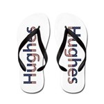 Hughes Stars and Stripes Flip Flops