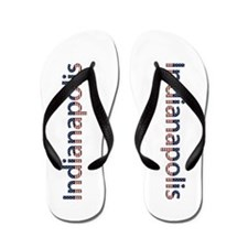 Indianapolis Stars and Stripes Flip Flops