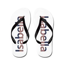 Isabella Stars and Stripes Flip Flops