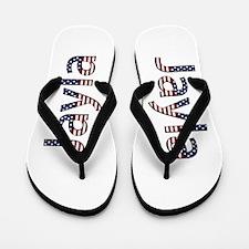 Jayla Stars and Stripes Flip Flops